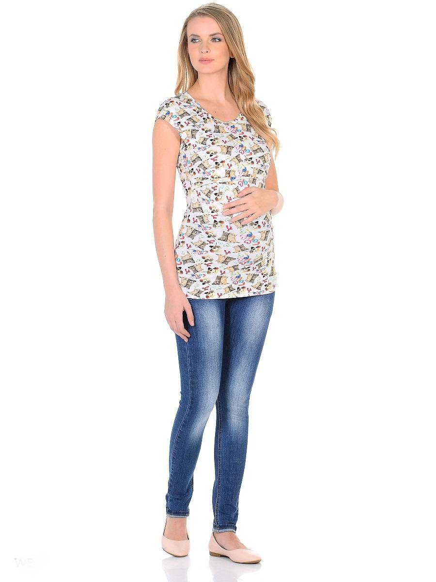 Джинсы103180Джинсы для беременных зауженного кроя, с высокой посадкой по талии. Имеют трикотажную кокетку с регулируемой резиночкой в поясе, что позволяет носить такие джинсы с комфортом, на любом сроке беременности и после рождения малыша. Передние и задние накладные карманы дополнены для практичности специальными заклепками в уголках, которые спасают джинсы от распарывания по шву. На переднем кармане декоративный элемент. Вертикальные потертости визуально вытягивают, делая ноги стройнее. Благодаря оптимальному содержанию эластана, джинсы отлично садятся на любую фигуру, не сковывают движений, хорошо держат форму. Джинсы универсальны в своем применении, они комбинируются со многими предметами гардероба, в джинсах образ выглядит стильно, современно и безупречно в любой ситуации.