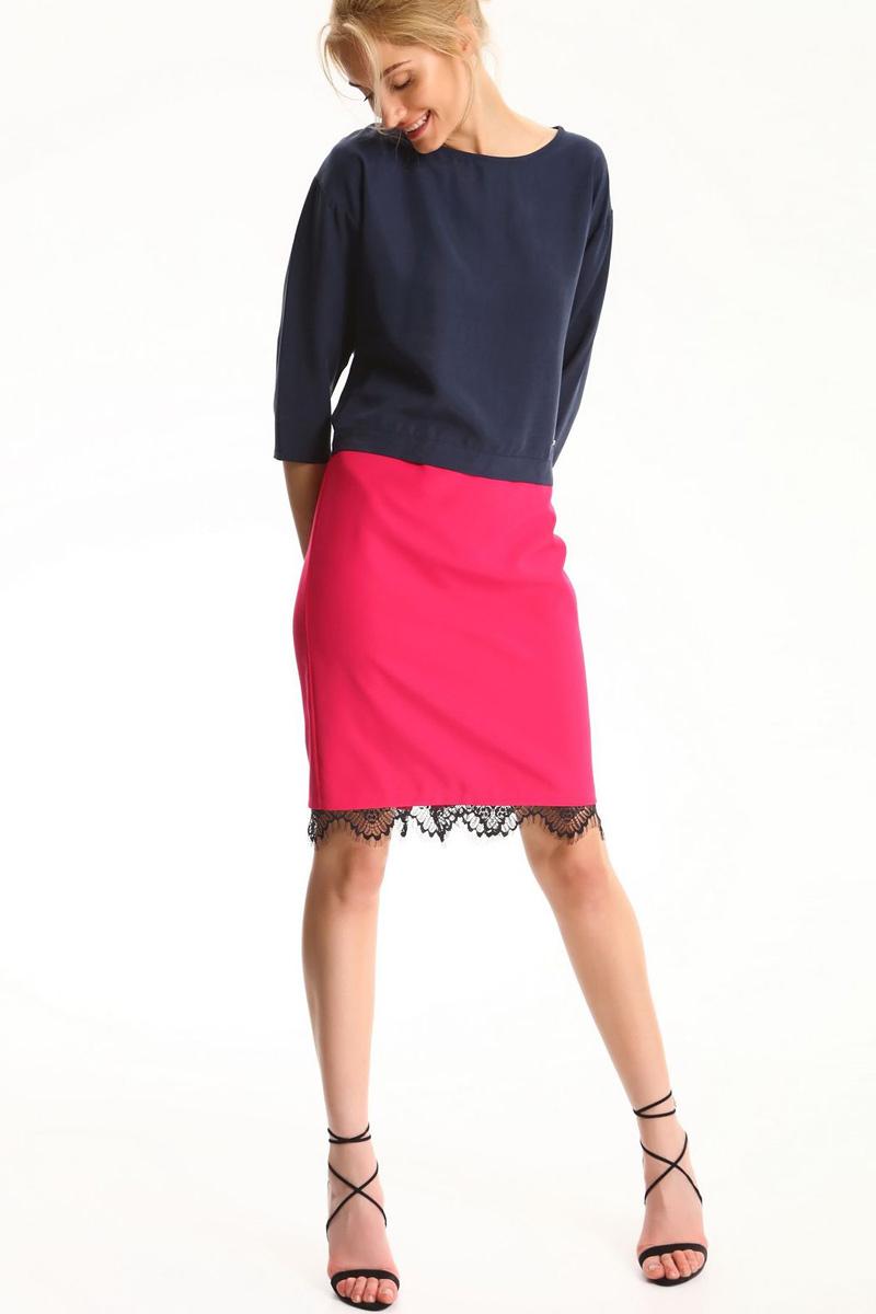 БлузкаSBD0683GRБлузка женская Top Secret выполнена из лиоцелла. Модель с круглым вырезом горловины и рукавами 3/4.