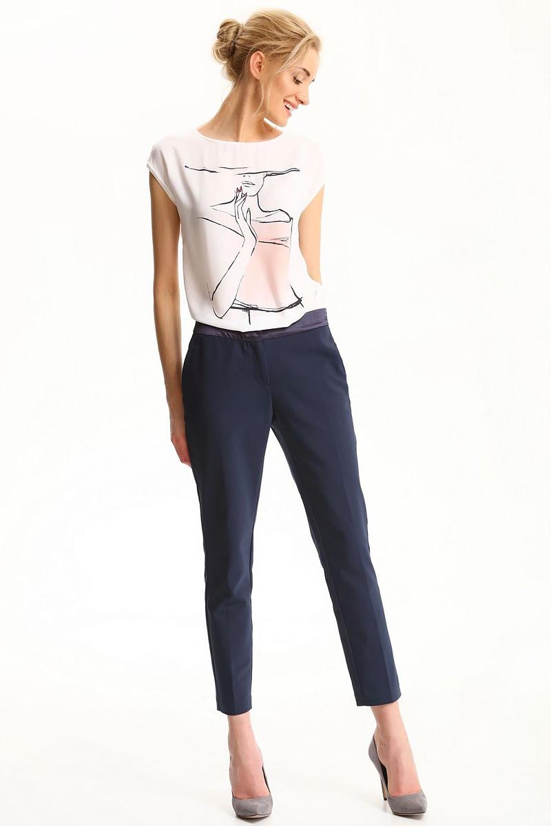 БрюкиSSP2500GRСтильные женские брюки Top Secret - брюки высочайшего качества на каждый день, которые прекрасно сидят. Модель изготовлена из высококачественного комбинированного материала. Эти модные и в тоже время комфортные брюки послужат отличным дополнением к вашему гардеробу. В них вы всегда будете чувствовать себя уютно и комфортно.