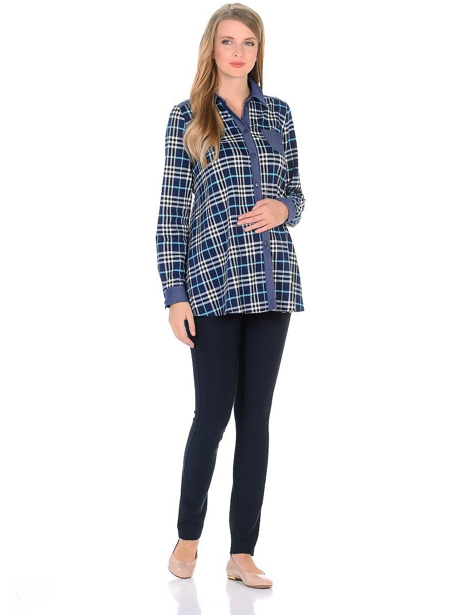 Блузка200202Модная и комфортная блузка (рубашка) для беременных и кормящих женщин. Основной трапециевидный крой выполнен из мягкого трикотажного полотна в клетку. Манжеты на рукавах, отложной воротник с передней планкой на пуговицах, накладной карман на полочке, кокетка на спинке и пояса на пуговицах, выполнены из легкого денима. Продуманный универсальный фасон позволяет носить с комфортом такую блузку в период беременности. После рождения малыша свободный крой скроет временные несовершенства фигуры, обеспечит свободу движениям и удобство при грудном кормлении. Такая блузка (рубашка) особенно стильно будет смотрится в комбинации с джинсами, леггинсами, а так же со многими другими предметами повседневного гардероба.