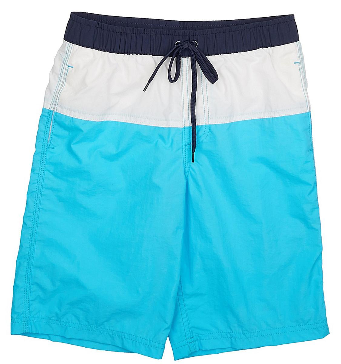 Шорты для плаванияSHsp-815/334-7225Пляжные шорты для мальчика Sela, изготовленные из качественного материала трех цветов, - идеальный вариант, как для купания, так и для отдыха на пляже. Модель с вшитыми сетчатыми трусиками на поясе имеет эластичную резинку, регулируемую шнурком, благодаря чему шорты не сдавливают живот ребенка и не сползают. Изделие дополнено двумя прорезными карманами. Шорты быстро сохнут и сохраняют первоначальный вид и форму даже при длительном использовании.