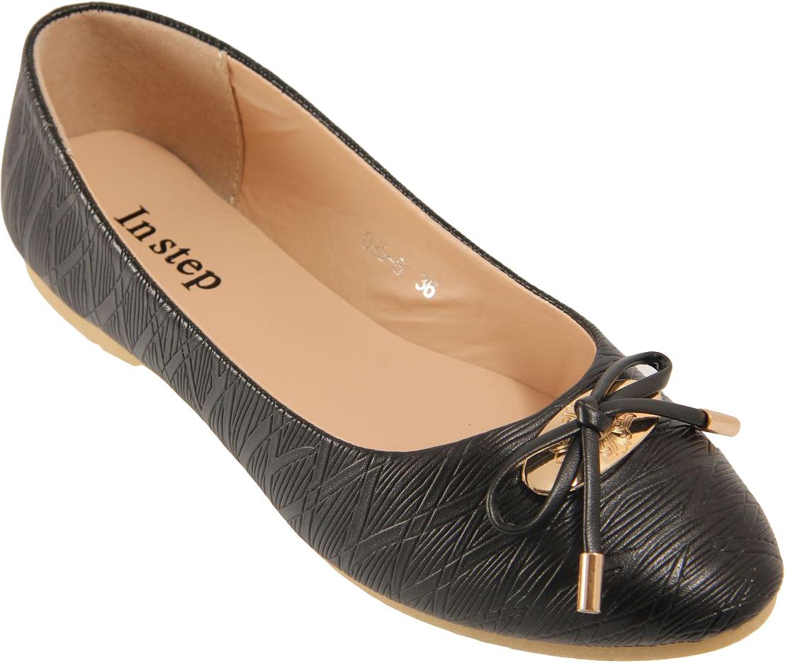 БалеткиOH5-8Стильные женские балетки от In Step выполнены из искусственной кожи, на подъеме офрмлены бантиком. Подошва из резины устойчива к изломам. Аккуратно смотрятся на ноге, комфортно носятся.