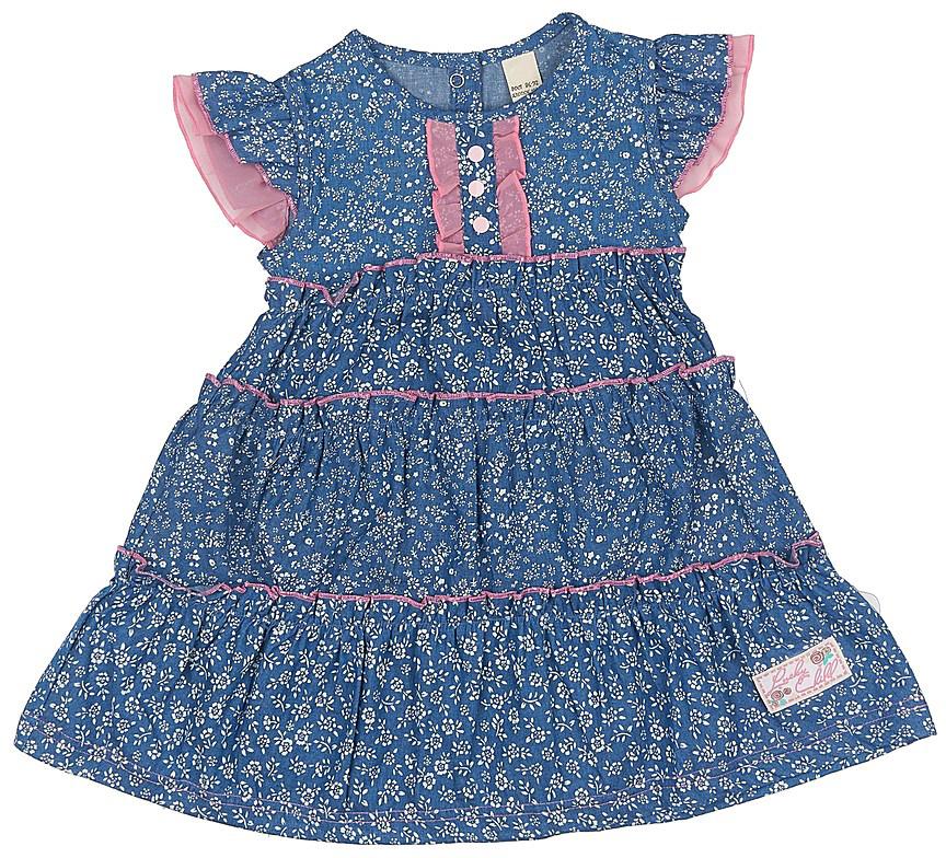Платье50-66Летнее платье из джинсового полотна в мелкий цветочек практичное и стильное. Пополните им гардероб девочки, и вам не придется выбирать между красотой и удобством.