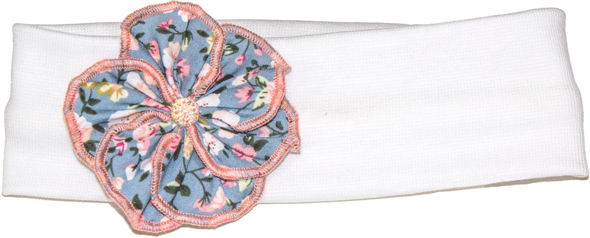 Повязка на голову детская52-94Повязка на голову из коллекции «Прованс». Нежный цветок из поплина и мягкая ткань интерлок для самой светлой головки.