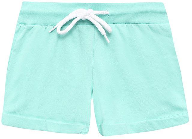 ШортыSHk-615/519-7234Короткие шорты для девочки Sela выполнены из натурального хлопка в спортивном стиле. Шорты прямого кроя с фиксированными отворотами на талии имеют широкий пояс на мягкой резинке, дополнительно регулируемый шнурком.