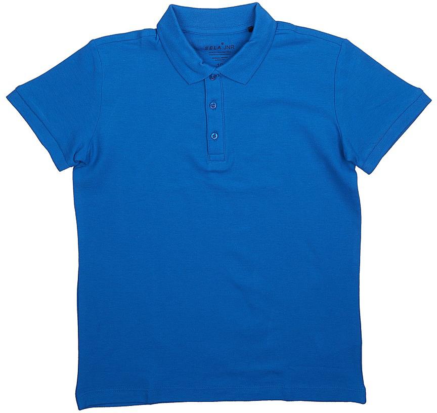 ПолоTsp-811/607-7224Стильная футболка-поло для мальчика Sela выполнена из натурального хлопка Модель прямого кроя с отложным воротничком, застегивающимся на пуговицы, подойдет для прогулок и дружеских встреч и будет отлично сочетаться с джинсами, брюками и шортами. Яркий цвет модели позволяет создавать стильные образы.
