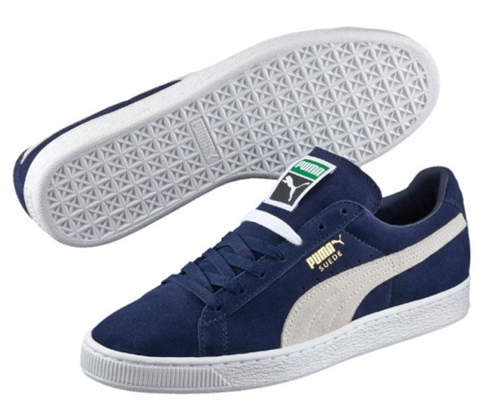Кеды36851Без сомнения самая известная и популярная модель от Puma произвела в своё время настоящую революцию в мире спортивной обуви, прославив этот немецкий бренд и став неотъемлемым аксессуаром молодежи, исповедующей активный стиль жизни, в любой стране мира. Так продолжается с далеких 80-х и до наших дней. Культовая модель Suede Classic + представлена сегодня в традиционном варианте с верхом из мягкой замши сдержанных цветов и нарядным сплошным белым рантом с прошивкой. На заднике, на язычке и сбоку изделие оформлено фирменным логотипом. Благодаря отличной поддержке стопы и щиколотки вы сможете насладиться свободой движений. Стелька из ЭВА с текстильной поверхностью комфортна при ходьбе. Уникальная подошва обеспечивает легкую амортизацию.