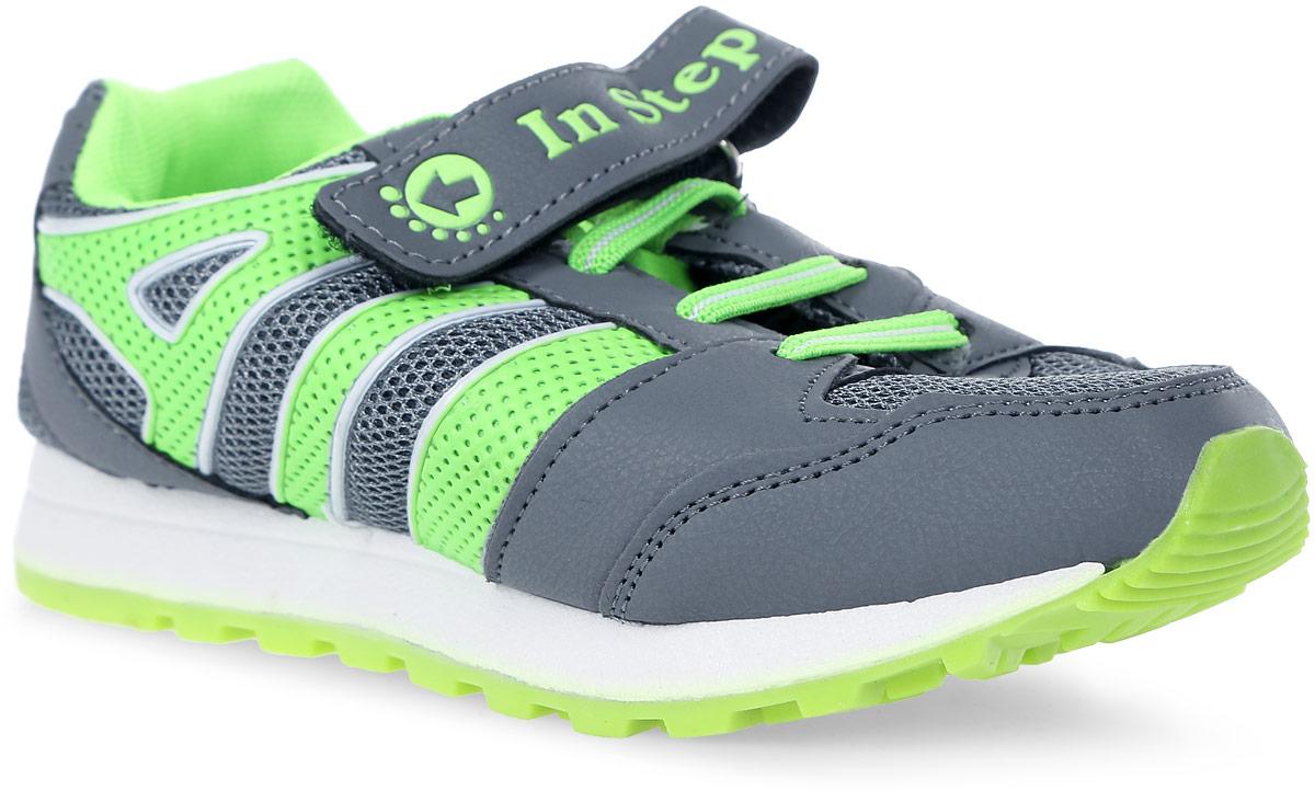 КроссовкиB007-3/5Детские кроссовки от In Step выполнены из комбинации дышащего текстиля и искусственной кожи. Ремешок с застежкой-липучкой и эластичная шнуровка гарантируют надежную фиксацию обуви на ноге. Внутренняя поверхность и стелька из текстиля комфортны при движении. Рельефная подошва изготовлена из резины.