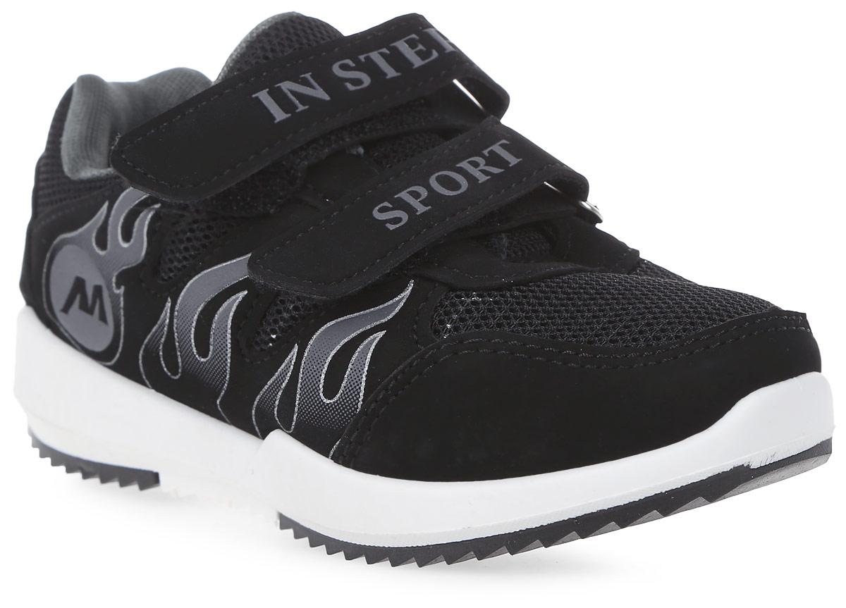КроссовкиHF033-1Детские кроссовки от In Step выполнены из комбинации дышащего текстиля и искусственной кожи. Ремешки на липучке гарантируют надежную фиксацию обуви на ноге. Внутренняя поверхность и стелька из текстиля комфортны при движении. Рельефная подошва изготовлена из резины.