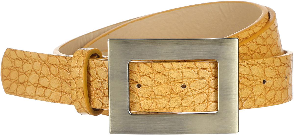 Ремень91/0269/068Стильный женский ремень Модные истории выполнен из высококачественной искусственной кожи с тиснением под рептилию. Пряжка, с помощью которой регулируется длина ремня, выполнена из качественного металла.