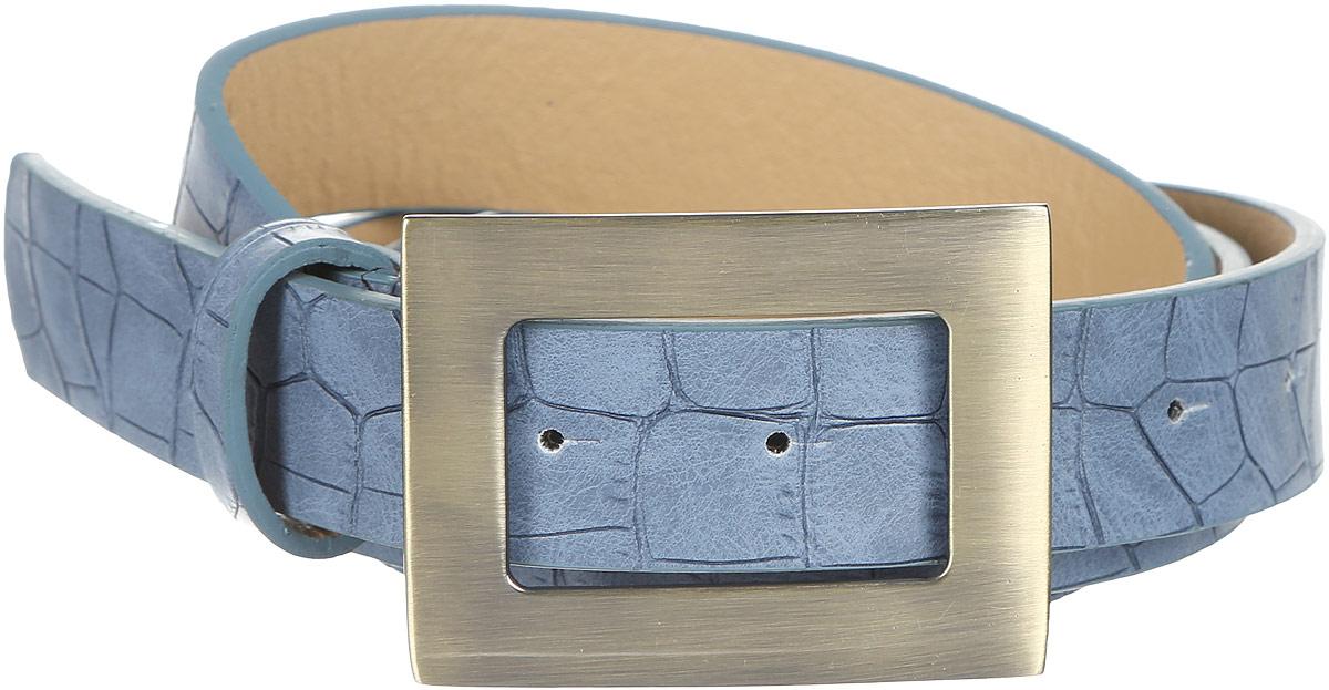 Ремень91/0269/180Стильный женский ремень Модные истории выполнен из высококачественной искусственной кожи с тиснением под рептилию. Пряжка, с помощью которой регулируется длина ремня, выполнена из качественного металла.