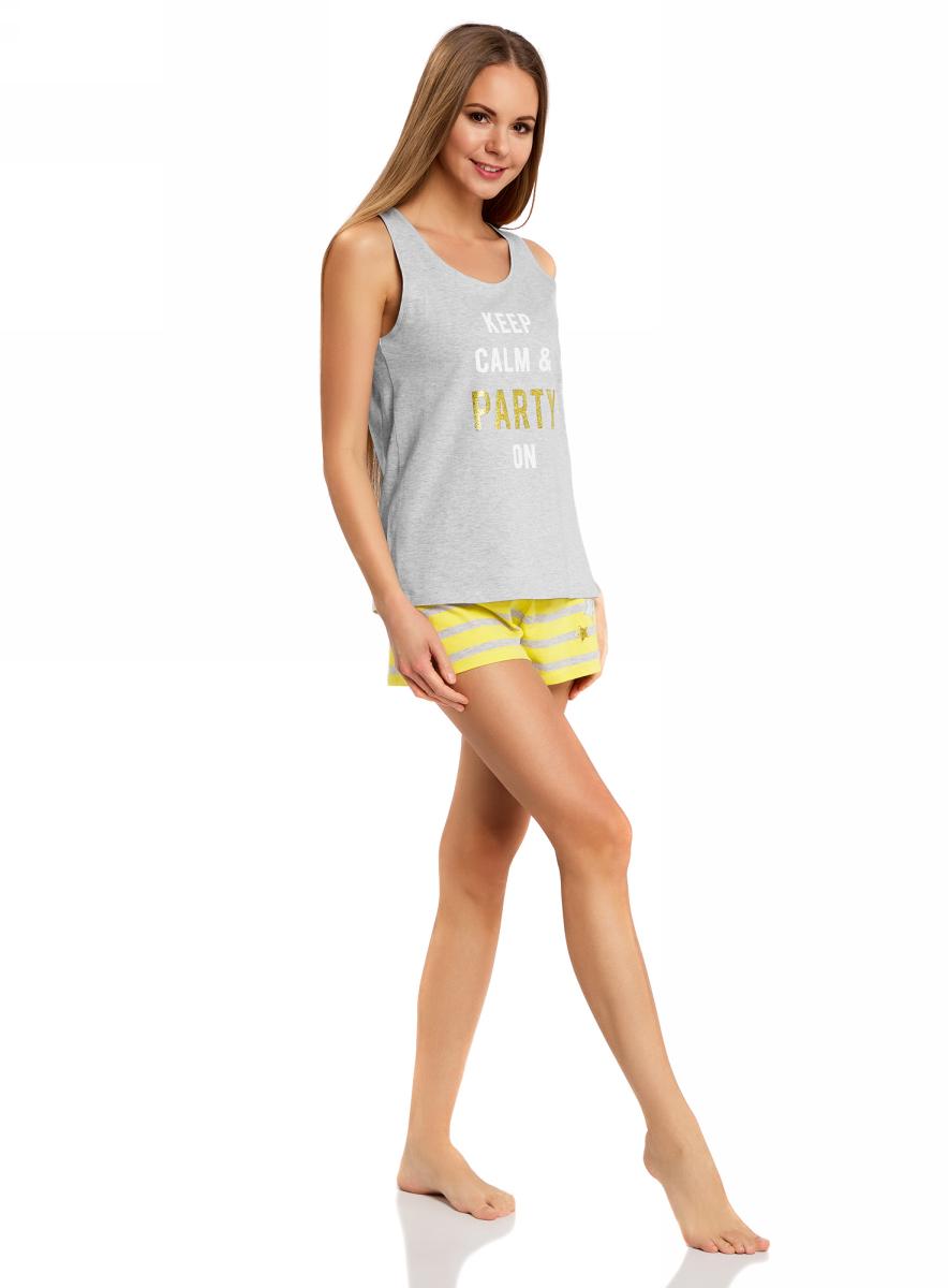 Пижама56002207-3/45532/2052PПижама с шортами и надписью