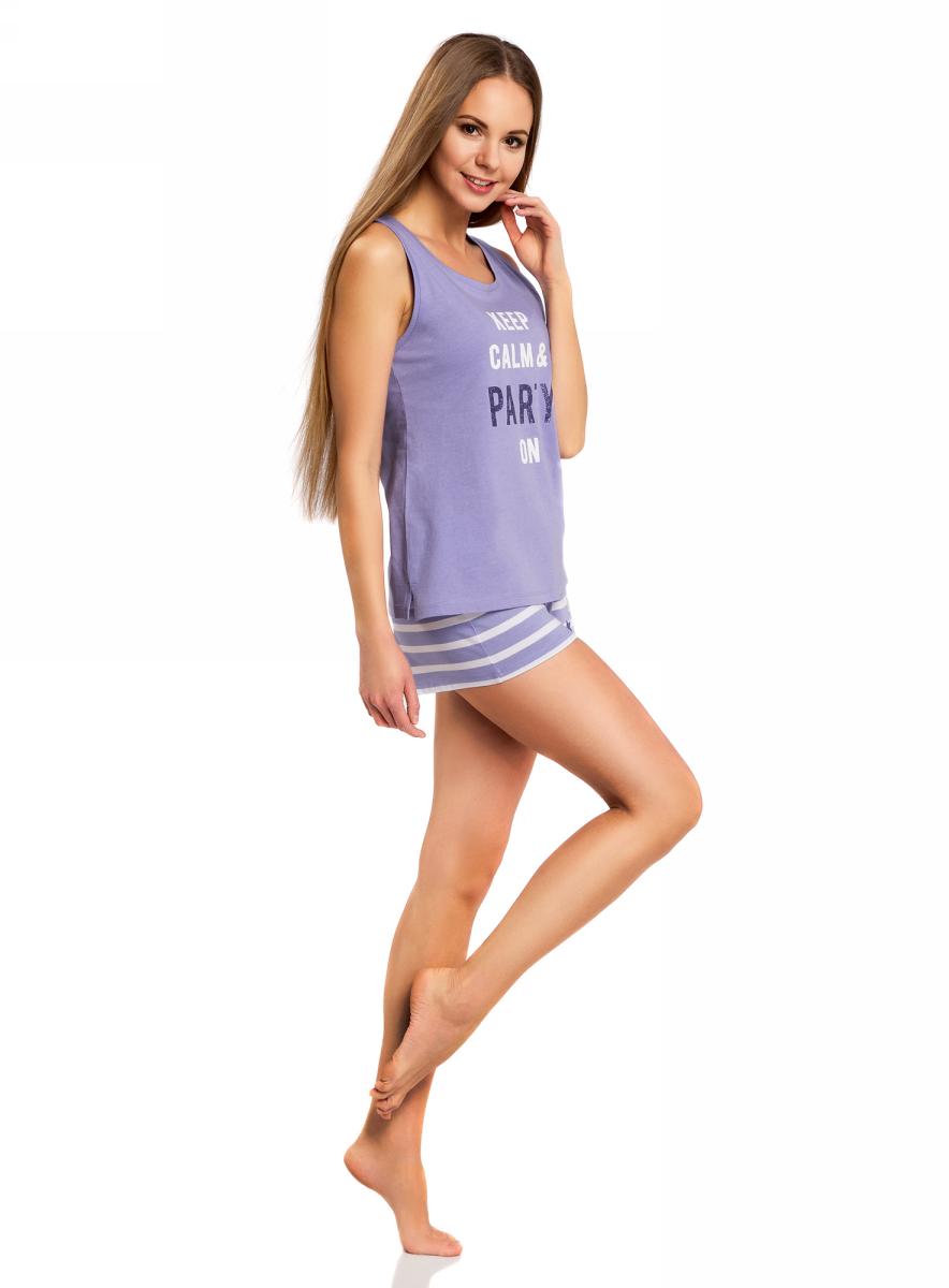 Пижама56002207/46897/8010PПижама с шортами и надписью
