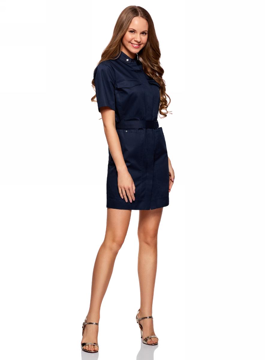 Платье11909002/33113/7900NПлатье-рубашка с карманами