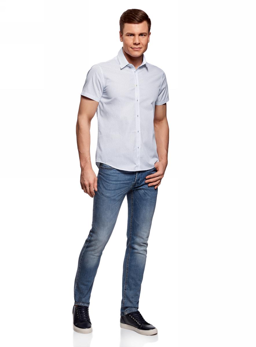 Рубашка3L210046M/44425N/1075GРубашка приталенная с двойным воротником