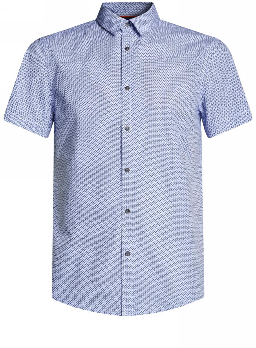 Рубашка3L410102M/39312N/1075GРубашка приталенная принтованная