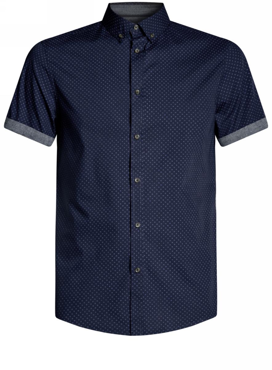 Рубашка3L410098M/39312N/7975GРубашка приталенная принтованная