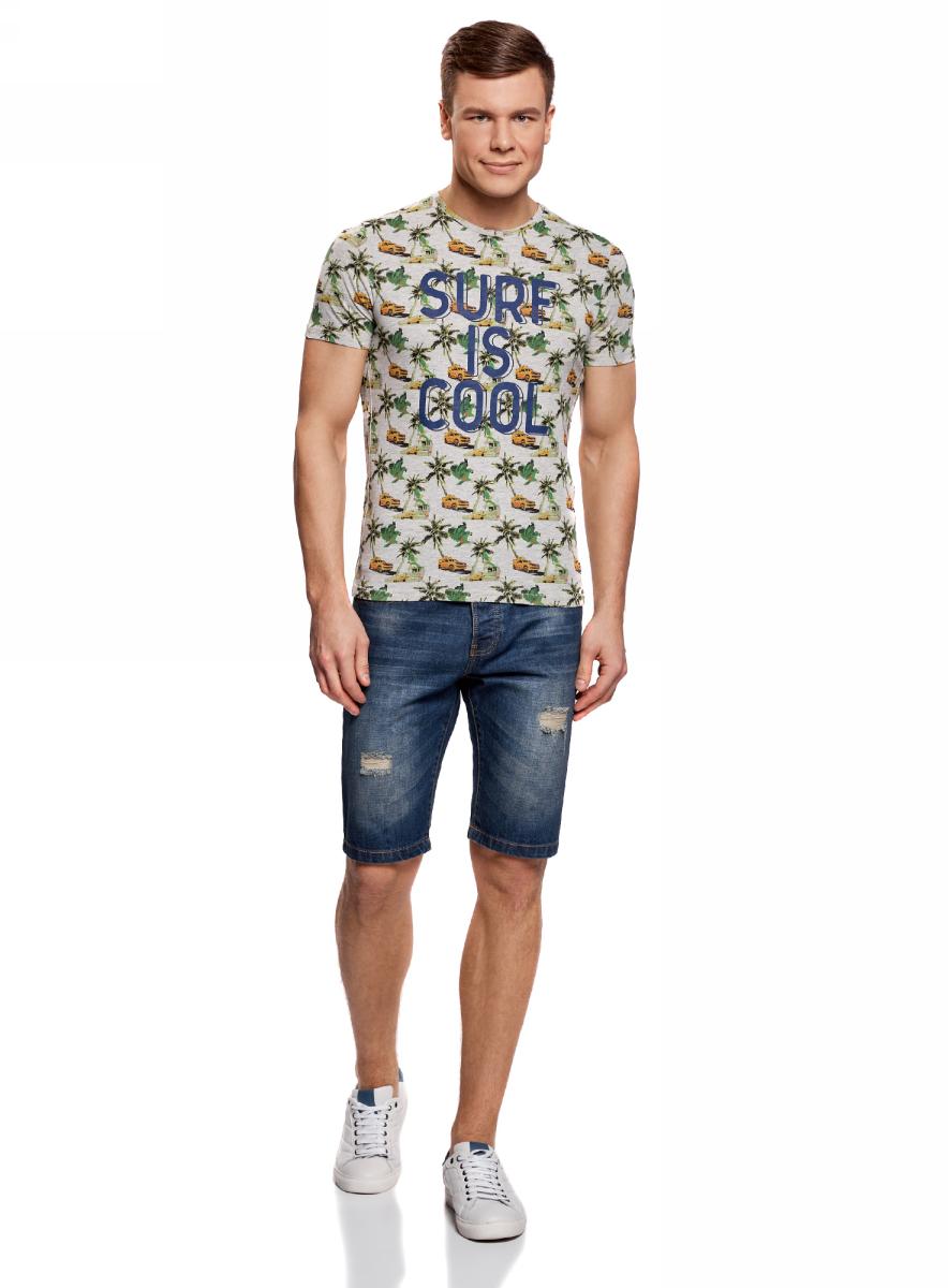 Шорты6L220016M/35771/7000WШорты джинсовые с дырками