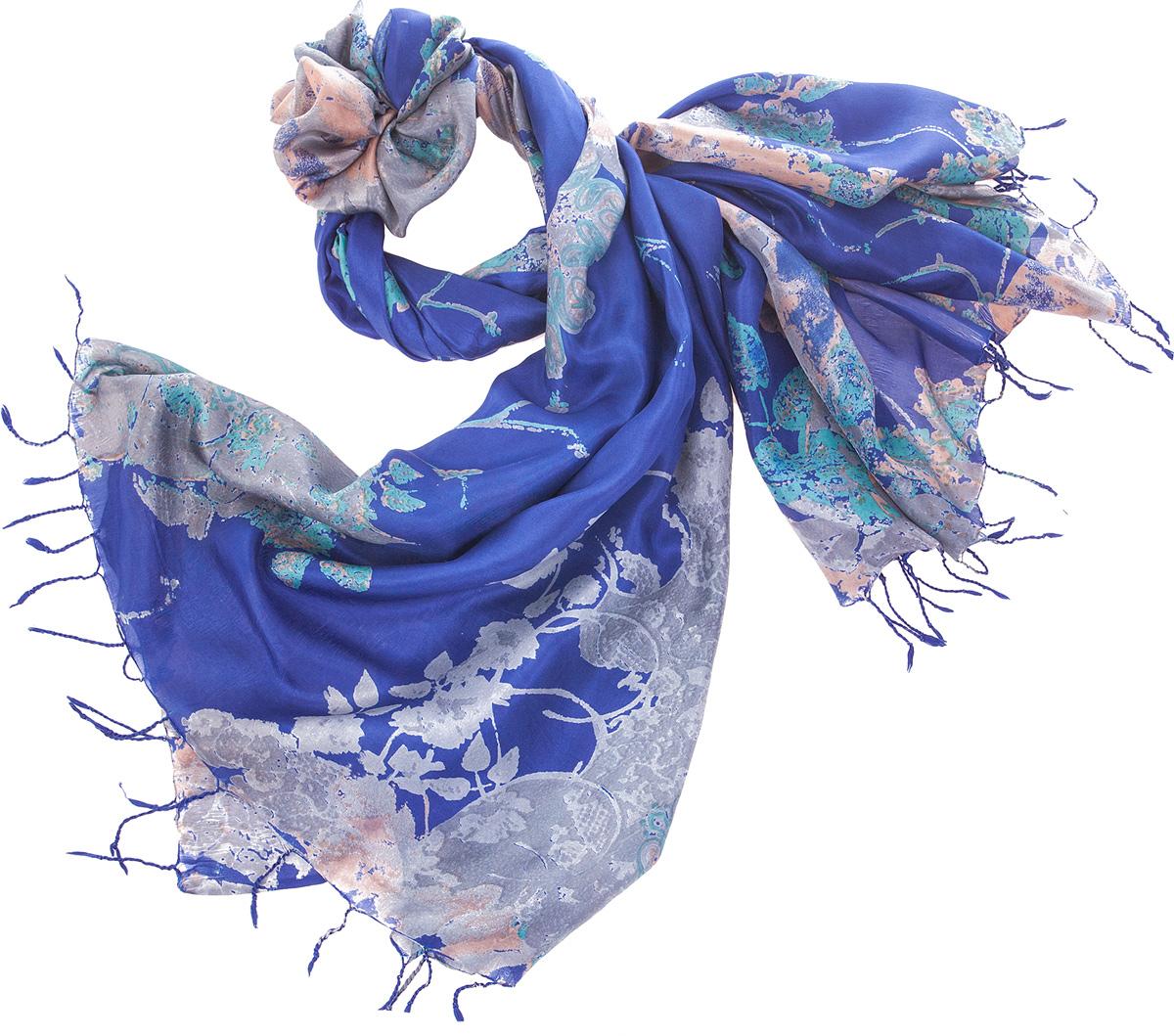 ПалантинS30-JEWEL.FLOWER/NAVYНарочито рыхлое плетение Plain тончайшей шелковой нитью Mulberry, нежная полупрозрачная ткань Chiffon. Вес изделия 60г (30 г/м2).