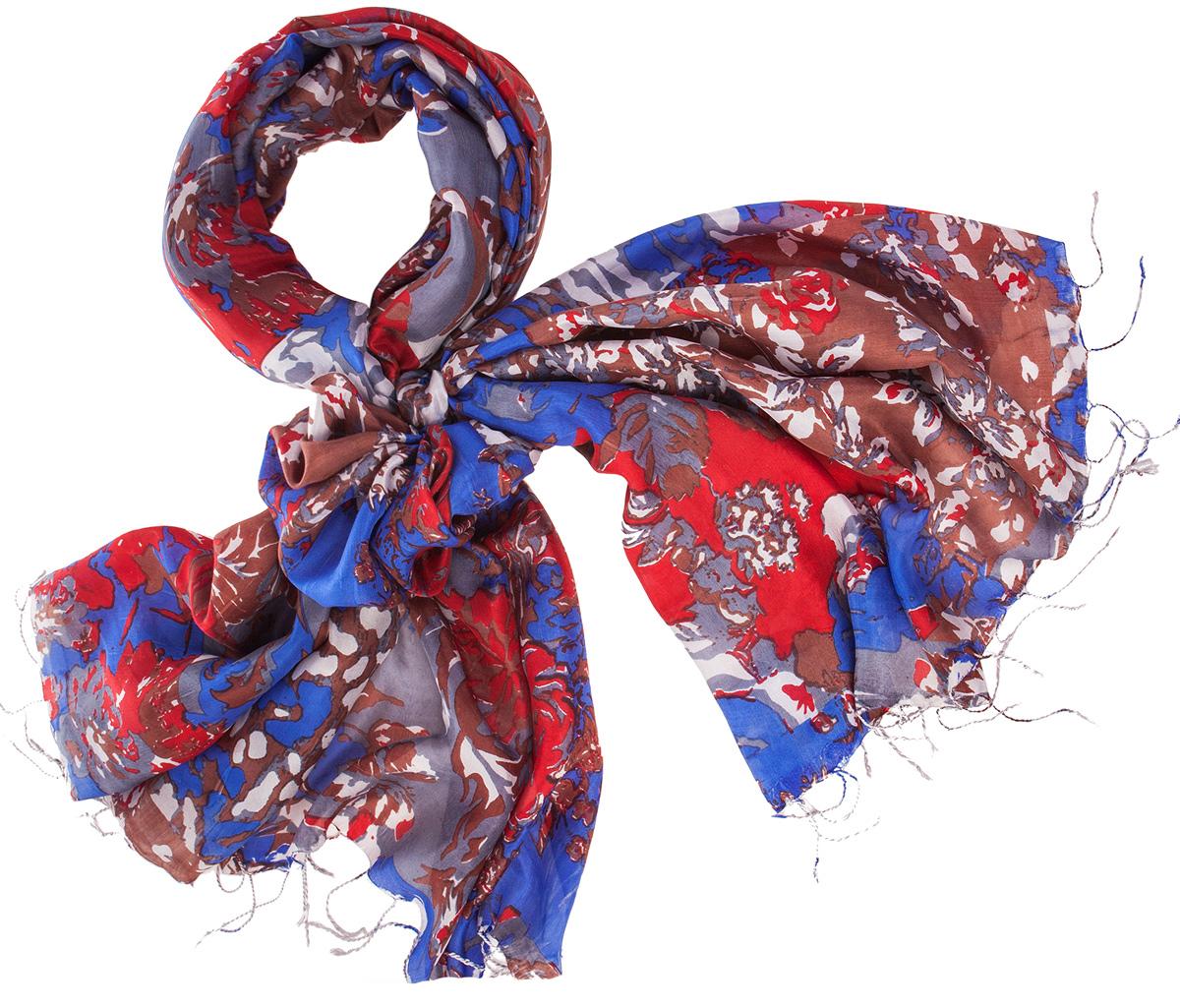 ПалантинS30-DENSE.FLORAL/MULTIНарочито рыхлое плетение Plain тончайшей шелковой нитью Mulberry, нежная полупрозрачная ткань Chiffon. Вес изделия 60г (30 г/м2).