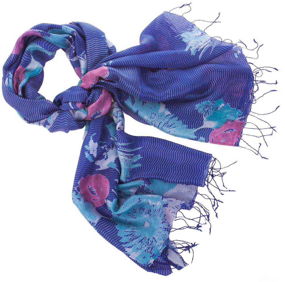ПалантинS30-BRUSH.FLOWER/NAVYНарочито рыхлое плетение Plain тончайшей шелковой нитью Mulberry, нежная полупрозрачная ткань Chiffon. Вес изделия 60г (30 г/м2).