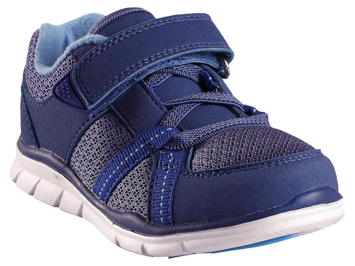 Кроссовки5693103360Кроссовки, которые легко надевать и легко чистить, просто незаменимы в весеннюю пору. Модные и легкие кроссовки Reima для малышей превосходно подойдут активным маленьким любителям приключений. Верх изготовлен из дышащего сетчатого материала, а бесшовная лайкровая подкладка защитит ножки от натирания. С помощью эластичных шнурков и удобного ремешка на липучке малыши смогут обуться сами. Благодаря широкому вырезу их очень легко надевать. Эти кроссовки пригодны для машинной стирки.