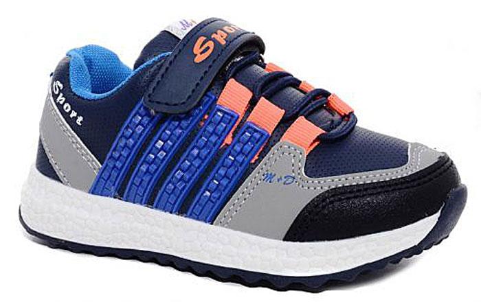 Кроссовки7403_2Стильные кроссовки для мальчика М+Д выполнены из качественной искусственной кожи. Модель оформлена яркими декоративными вставками. Обувь фиксируется на ноге при помощи удобной шнуровки и липучки. Высокая подошва из полимера дополнена рифлением.