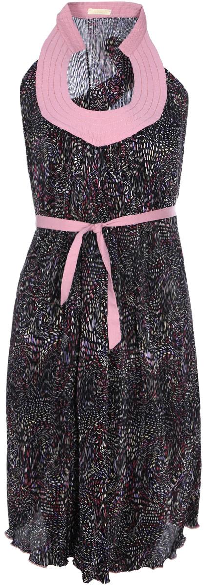 Платье303481Платье-Сарафан из гофрированной ткани с красивым вырезом по декольте. Легкое, воздушное, свободного силуэта, подойдет как для работы в офисе, так и на каждый день.