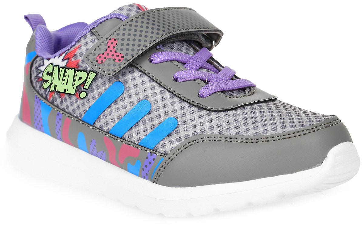 Кроссовки6804AСтильные кроссовки от Kakadu - отличный выбор для вашей девочки на каждый день. Верх модели выполнен из синтетической кожи и текстиля. Кроссовки оформлены красочным принтом и надписями. Ремешок с застежкой-липучкой и шнуровка обеспечивают надежную фиксацию обуви на ноге. Ярлычок на заднике облегчает обувание. Подкладка из текстильного материала создает комфорт при носке. Съемная анатомическая стелька удобна в эксплуатации и позволяет быстро просушивать обувь. Облегченная подошва выполнена из ЭВА-материала. Рифление на подошве обеспечивает отличное сцепление с любой поверхностью. Модные и комфортные кроссовки - необходимая вещь в гардеробе каждого ребенка.