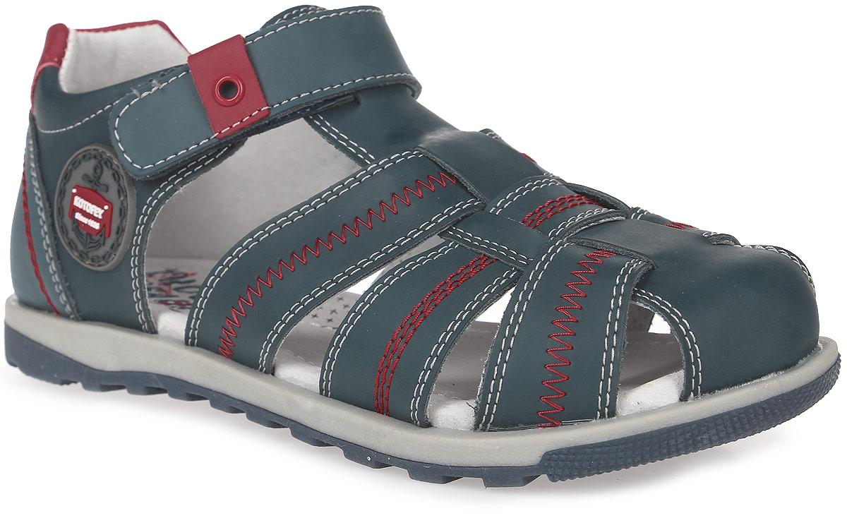 Сандалии522090-21Модные сандалии для мальчика от Котофей выполнены из натуральной кожи. Ремешок с застежкой-липучкой надежно зафиксирует модель на ноге. Внутренняя поверхность и стелька из натуральной кожи обеспечат комфорт при движении. Подошва дополнена рифлением.