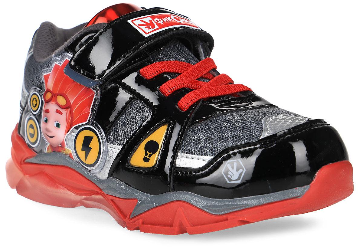 Кроссовки6730AСтильные кроссовки Fixiki от Kakadu - отличный выбор для вашего мальчика на каждый день. Верх модели выполнен из искусственной кожи и текстиля. Кроссовки оформлены накладками с изображением персонажей мультсериала Фиксики. Ремешок с застежкой-липучкой и шнуровка обеспечивают надежную фиксацию обуви на ноге. Подкладка из мягкого хлопка обеспечивает комфорт при носке. Съемная текстильная стелька удобна в эксплуатации и позволяет быстро просушивать обувь. Подошва выполнена из термопластичной резины и оформлена светодиодами. Рифление на подошве обеспечивает отличное сцепление с любой поверхностью. Модные и комфортные кроссовки - необходимая вещь в гардеробе каждого ребенка.