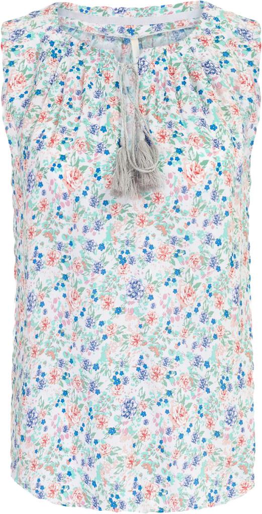 БлузкаB267010_Navy PrintedБлузка женская Baon выполнена из вискозы. Модель с круглым вырезом горловины оформлена оригинальным принтом.