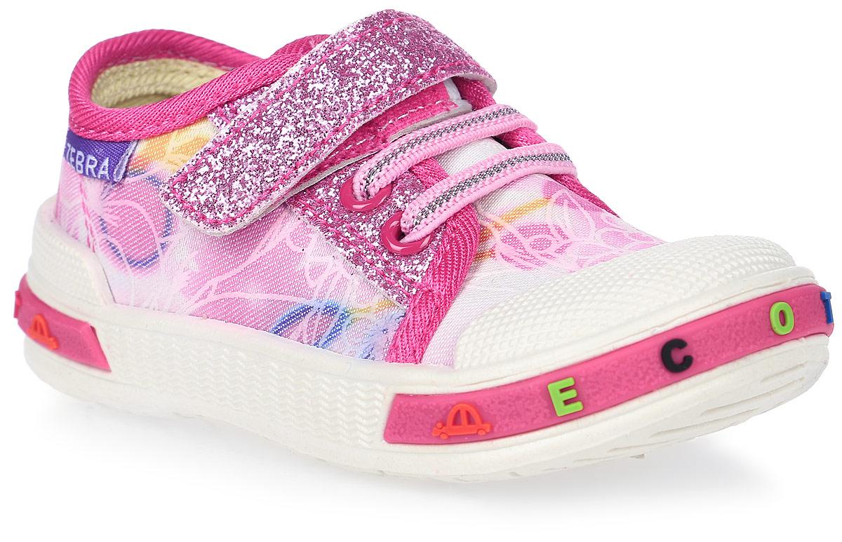 Кеды1-085TFКеды для девочки от ЭкоТекс выполнены из текстиля и дополнены на подъеме шнуровкой и ремешком с липучкой. Оформлена модель цветочным принтом и блестящими вставками. Жесткий задник, защищенный носок. Внутренняя поверхность изготовлена из текстильного материала, стелька с выдавленным анатомическим профилем стопы - из натуральной кожи. Легкая износостойкая литьевая подошва оснащена рельефным рисунком.