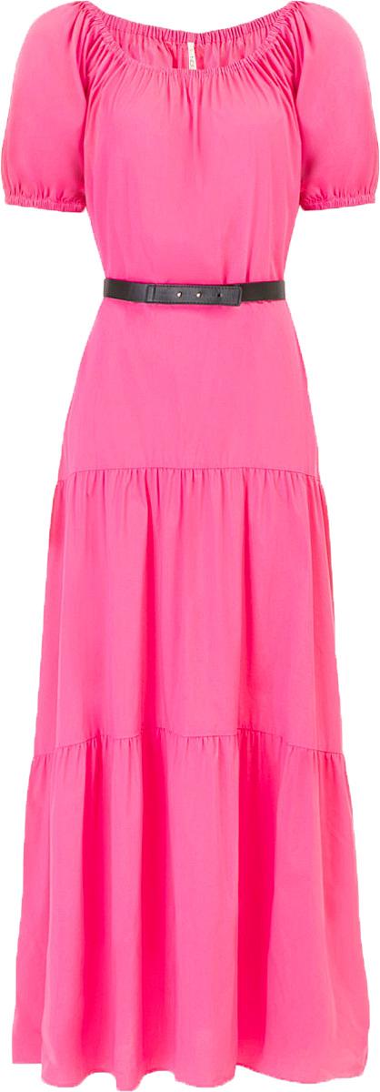 ПлатьеB457053_LarkspurПлатье Baon выполнено из хлопка, эластана и полиамида. Эластичная вставка в верхней части изделия позволит вам носить платье несколькими способами, в том числе, и с актуально открытыми плечами. Приталенный силуэт можно создать при помощи пояса из искусственной кожи.