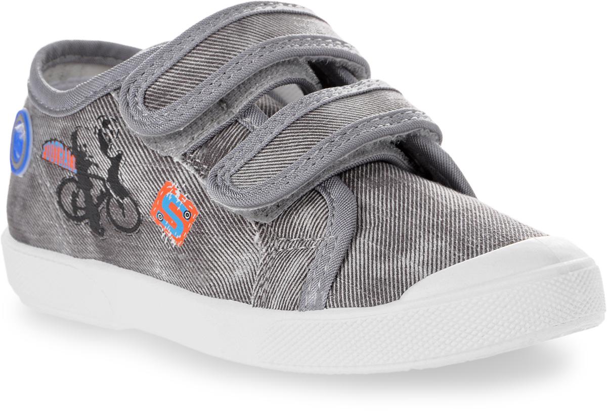 Кеды331023-11Модные кеды для мальчика от Котофей выполнены из плотного текстиля. Мыс модели защищен прорезиненной вставкой. Внутренняя поверхность и стелька из текстиля гарантируют комфорт при движении. Ремешки с застежками-липучками надежно зафиксируют модель на ноге. Подошва дополнена рифлением.