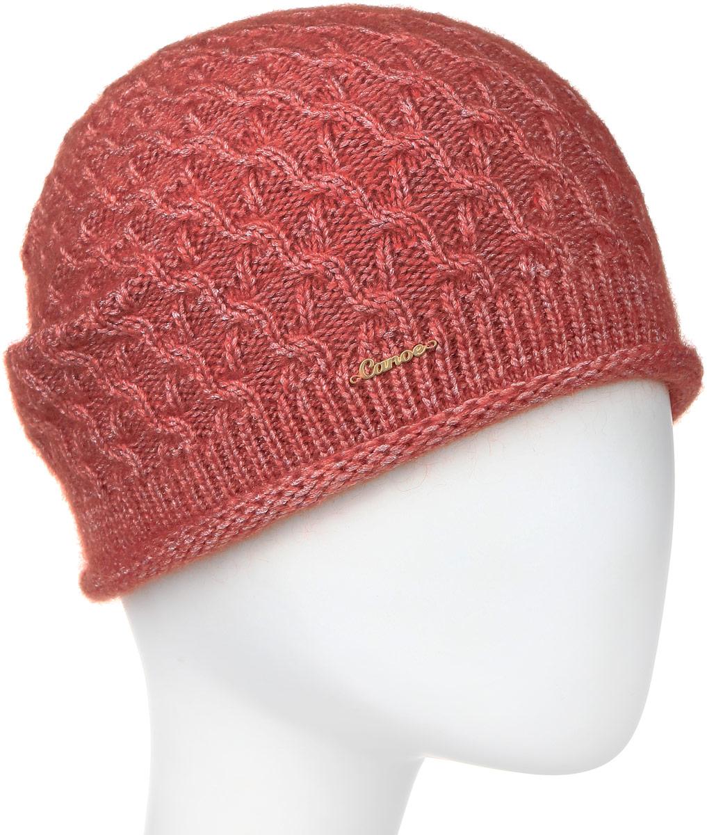 Шапка3445440Удлиненная женская шапка Canoe Ilene с ажурным рисунком отлично дополнит ваш образ в холодную погоду. Сочетание суперкид мохера, вискозы и полиамида максимально сохраняет тепло и обеспечивает удобную посадку, невероятную легкость и мягкость. Визуально пряжа имеет красивое , двухцветное переплетение, создающее ощущение глубины и объема внутри изделия. Шапка украшена небольшим декоративным элементом с изображением надписи Canoe. Привлекательная стильная шапка Canoe Ilene подчеркнет ваш неповторимый стиль и индивидуальность.