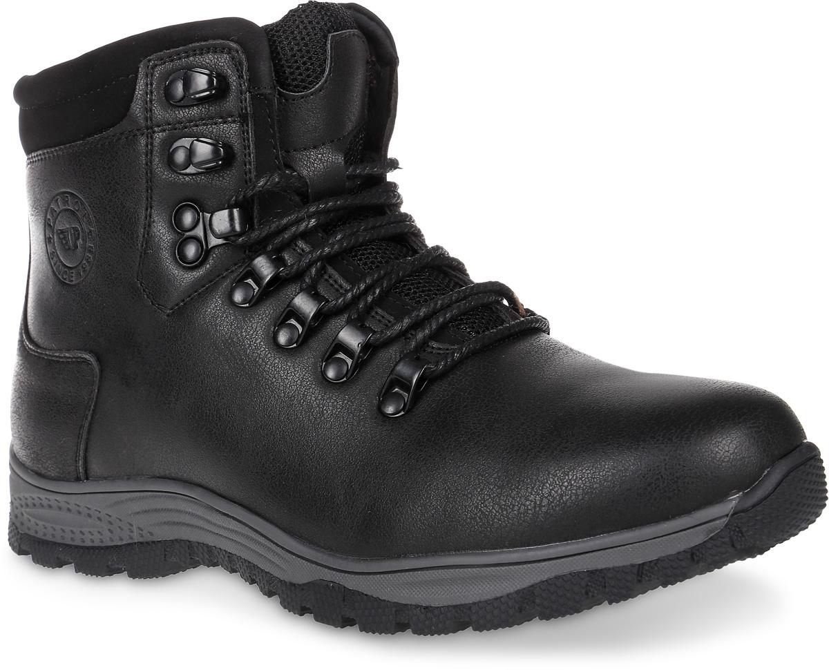 Ботинки754-321IM-17w-01-1Уютные и теплые ботинки для мальчика от Patrol выполнены из искусственной кожи. Подкладка и стелька, выполненные из искусственного меха, обеспечивают отличную амортизацию и максимальный комфорт. Подошва с протектором гарантирует идеальное сцепление на любой поверхности. Ботинки на ноге фиксируются при помощи классической шнуровки.