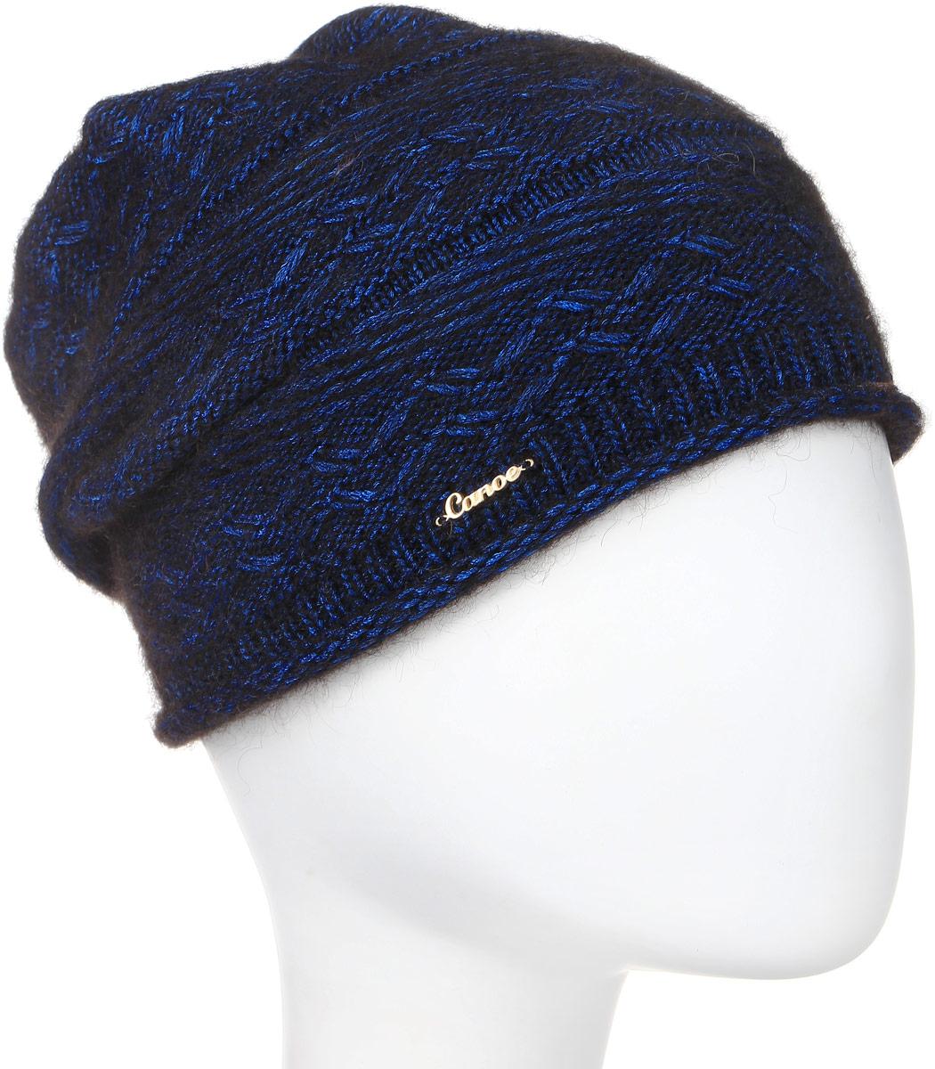 Шапка3445460Удлиненная женская шапка Canoe Amanda с ажурным рисунком отлично дополнит ваш образ в холодную погоду. Сочетание суперкид мохера, вискозы и полиамида максимально сохраняет тепло и обеспечивает удобную посадку, невероятную легкость и мягкость. Визуально пряжа имеет красивое , двухцветное переплетение, создающее ощущение глубины и объема внутри изделия. Шапка украшена небольшим декоративным элементом с изображением надписи Canoe. Привлекательная стильная шапка Canoe Amanda подчеркнет ваш неповторимый стиль и индивидуальность.