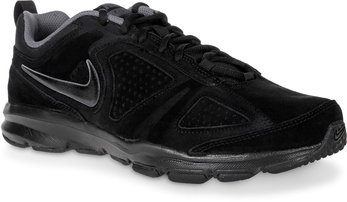 Кроссовки616546-027Мужские кроссовки Nike T-Lite XI NBK предназначены как для занятий фитнесом, так и для повседневной носки. Модель выполнена из комбинации натурального спилка и текстиля. Верх изделия дополнен перфорацией, что создает превосходную вентиляцию и комфорт в течении всего дня. Подъем оформлен классической шнуровкой, которая надежно фиксирует обувь на ноге и регулирует объем. Подкладка и стелька, идеально подстраивающаяся под анатомические контуры стопы, изготовлены из текстиля. По бокам кроссовки декорированы символикой бренда. Язычок дополнен текстильной нашивкой, а задник - ярлычком для более удобного обувания. Легкая промежуточная подошва выполнена из филона, протектор - из твердой резины. Бугорки Delta на протекторе подошвы обеспечивают превосходное сцепление с поверхностью.