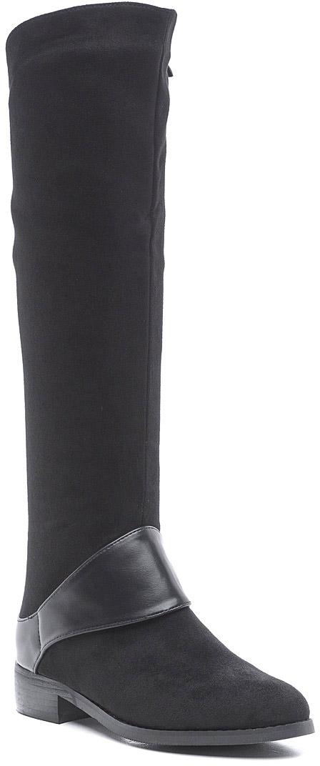 СапогиJ1070-1Стильные женские сапоги от Vivian Royal выполнены из искусственной замши. Подкладка и стелька из байки не дадут ногам замерзнуть. Застегивается модель на боковую застежку-молнию. Подошва и невысокий каблук дополнены рифлением.