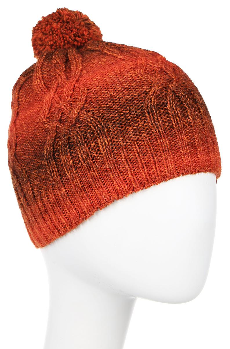 Шапка4418/1Вязаная шапка Marhatter выполнена из шерсти и акрила, подкладка - из мягкого флиса. Шапка превосходно сохраняет тепло, мягкая и идеально прилегает к голове. Шапка, связанная узором в виде кос, на макушке оформлена очаровательным помпоном.