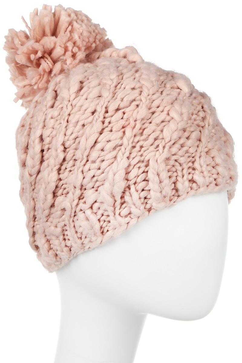 Шапка4-0040-001Стильная однослойная теплая шапка с отворотом и помпоном из акрила. Большого размера. Рисунок - коса. Отличный аксессуар защитит в непогоду и подарит ощущение теплоты.