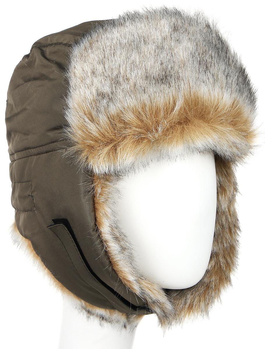 ШапкаволкЗимняя шапка с искусственным мехом и ветрозащитной маской. Очень удобная и практичная модель. Верх шапки выполнен из водонепроницаемого материала. Имитация меха волка. Утеплена радотексом и флисом для лучшей теплоизоляции. Маска изготовлена из флиса и предназначена для защиты нижней части лица от холода и ветра. Утяжка на затылке со стоппером. Уши под подбородком и наверху фиксируются с помощью липучки. Конструкция шапки позволяет носить ее в двух вариантах. Шапка легкая, приятная на ощупь и отлично защищает от зимнего холода.