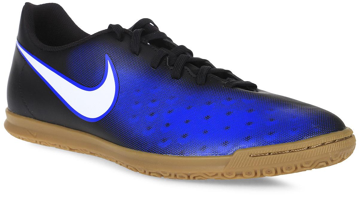 Кроссовки844409-016Обувь для футбола Nike Magistax Ola II - новый улучшенный силуэт обеспечивает более плотную посадку при облегченном верхе. Синтетическая кожа-дает идеальное касание мяча. Улучшенный силуэт обеспечивает более плотную посадку без утяжеления. Синтетическая кожа-повторяет форму стопы для оптимального касания. Асимметричная шнуровка увеличивает площадь контроля над мячом. Внутренний задник фиксирует стопу, обеспечивая амортизацию и надежную посадку. Резиновый материал разработан специально для уверенного сцепления с покрытием зала. Cетчатая подкладка, немаркая подошва.
