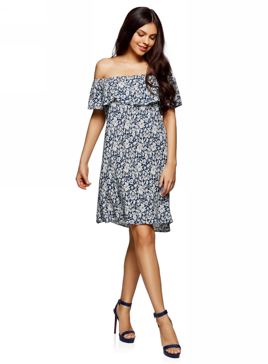 Платье11911020/42800/4500NПлатье из вискозы с открытыми плечами