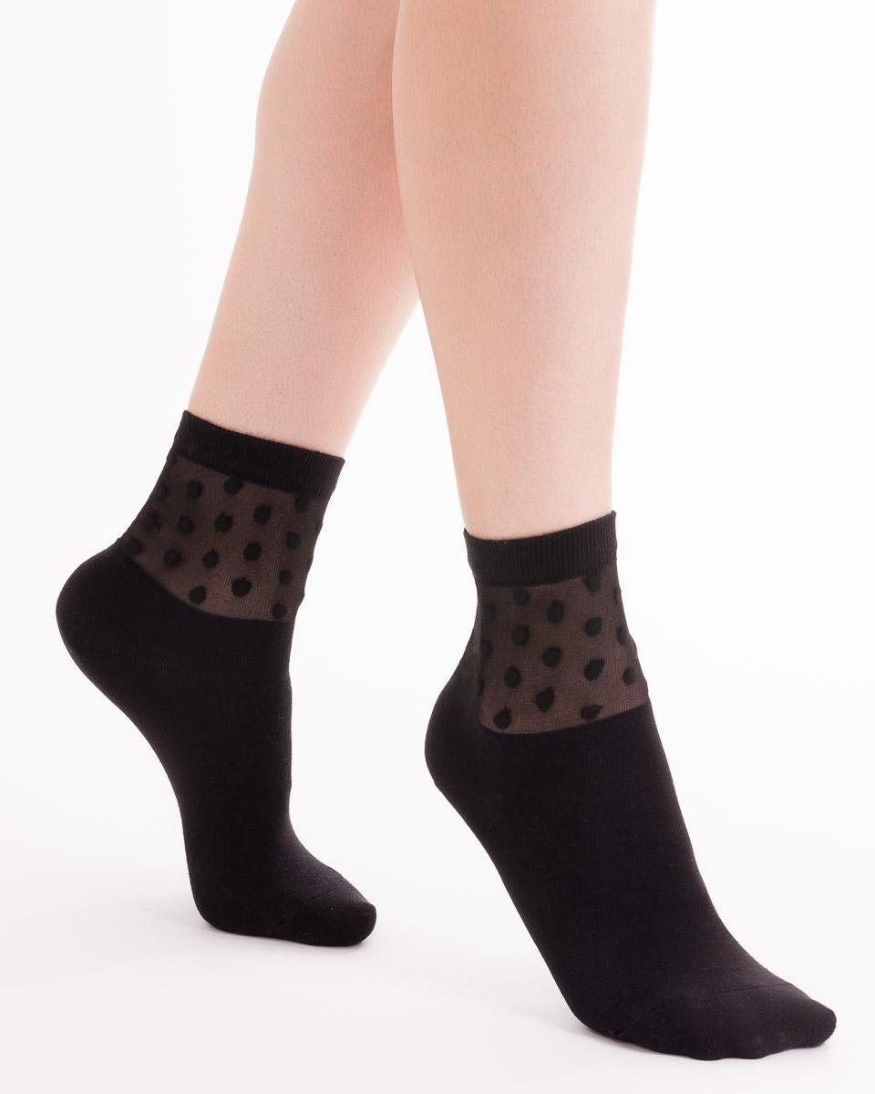 Носки205K-183_930Классический однотонный женский носок с обрезным бортом. Medical.