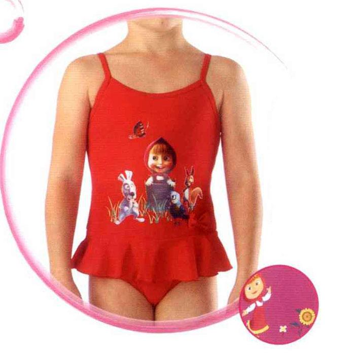 Купальник слитныйGSS-1Слитный купальник для девочки Lowry Маша и Медведь на тонких бретелях изготовлен из полиамида и эластана, благодаря чему позволяет коже ребенка дышать, быстро сохнет и сохраняет первоначальный вид и форму даже при длительном использовании. Он комфортен в носке, даже когда ребенок мокрый. Спереди купальник оформлен аппликацией с изображением Маши - главной героини мультфильма Маша и Медведь, а на поясе декорирован очаровательной рюшей, имитирующей юбочку, и маленьким бантиком. Такой купальник, несомненно, понравится даже самой маленькой моднице.
