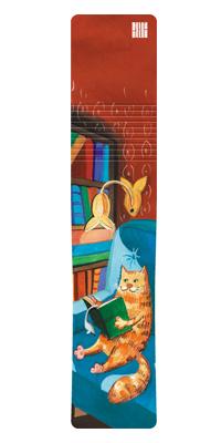 """Закладка магнитная """"Читающий кот"""""""