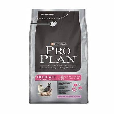 """Корм сухой Pro Plan """"Delicate Sensitive"""" для кошек с чувствительным пищеварением и кожей, с индейкой и рисом."""