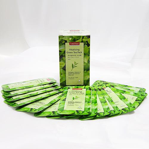 """Набор освежающих масок """"Purederm. Зеленый чай"""", 10 мл x 5 ( 5N581947 )"""